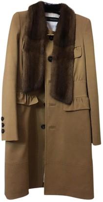 DSQUARED2 Beige Wool Coat for Women