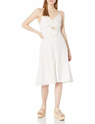 ASTR the Label Women's Ellowyn Sleeveless Cut-Out Tie Back Flare Midi Dress S