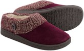 Clarks Sweater Button Clog Slippers - Suede (For Women)