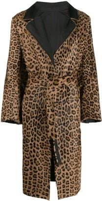 Simonetta Ravizza Leopard Print Coat