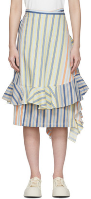 J.W.Anderson Multicolor Stripe Parasol Wrap Skirt