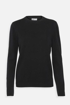 Colorful Standard - Womens Classic Merino Crew Jumper In Deep Black - L