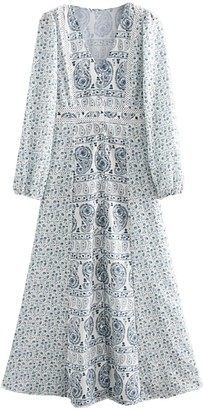 Goodnight Macaroon 'Marley' Floral Boho Print Maxi Dress