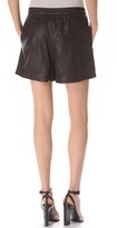 Helmut Lang Helmut Pull On Leather Shorts