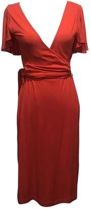 Calvin Klein Red Cotton Dress for Women