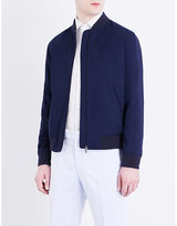 Richard James Stand Collar Cotton Bomber Jacket