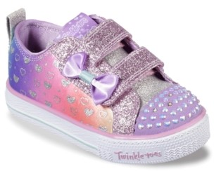 Skechers Twinkle Toes Shuffle Lite Sparkly Hearts Light-Up Sneaker - Kids'