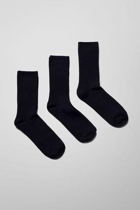 Weekday Noah Socks 3-Pack - White