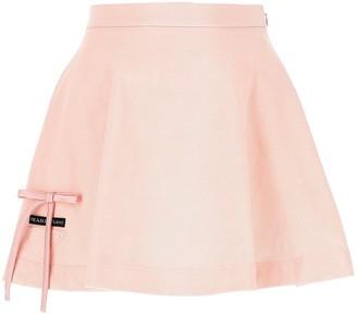 Prada A-Line Bow Detail Mini Skirt