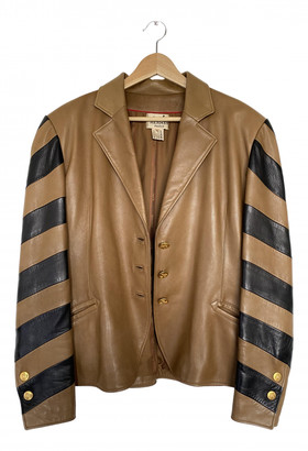 Hermes Camel Leather Leather jackets