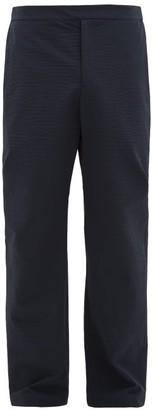 Deveaux Technical-cloque Straight-leg Trousers - Navy