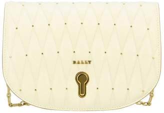 Bally Mini Bag Clay Mini Shoulder Bag In Quilted Leather With Micro Studs And Logo