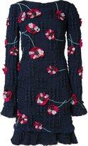 Monique Lhuillier long sleeved sheath dress