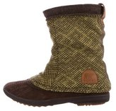 Sorel Suede Knitted Ankle Boots
