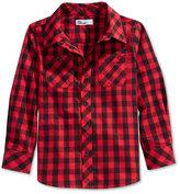 Epic Threads Buffalo Check Woven Shirt, Toddler Boys (2T-4T) & Little Boys (2-7)
