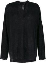 Isabel Benenato V-neck fine knit sweater
