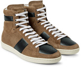 Saint Laurent - Sl10 Leather-panelled Suede High-top Sneakers