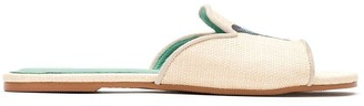 Blue Bird Shoes straw Butterfly flats