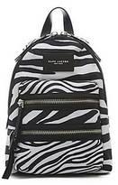 CONTEMPORARY Zebra Printed Biker Mini Backpack