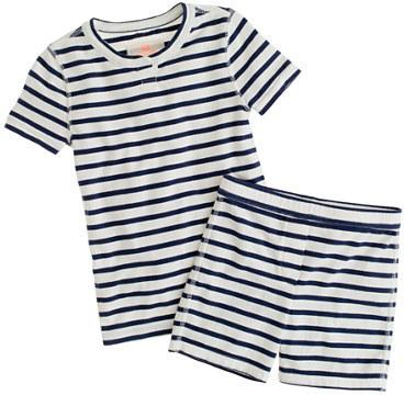 J.Crew Girls' short-sleeve sleep set in stripe