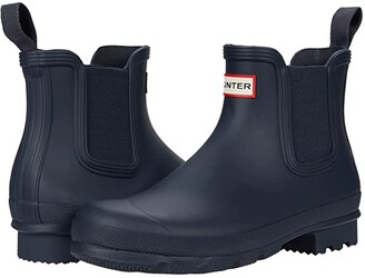 Hunter Chelsea (Black) Men's Rain Boots
