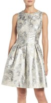Vince Camuto Metallic Fit & Flare Dress