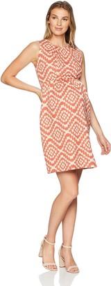 Maternal America Women's Maternity Single Pleated Dress