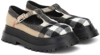 Burberry Aldwych checked Mary Jane loafers