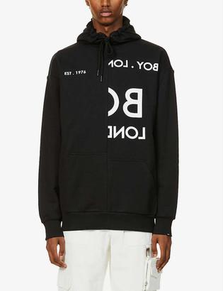 Boy London Asymmetric cotton-jersey hoody