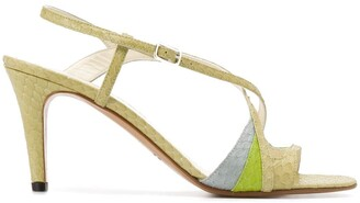 Michel Vivien Nabi 85mm snakeskin-effect sandals