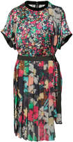 Sacai floral pleated midi dress