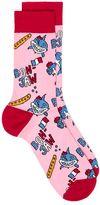 Topman Pink Jaws Shark Socks
