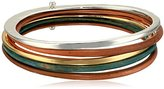 Robert Lee Morris Color Gestures Mixed Colored Patina and Two Tone Bangle Bracelet
