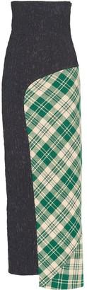 Miu Miu Shetland asymmetric maxi skirt