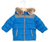 Tartine et Chocolat Boys' Faux Fur-Trimmed Puffer Jacket