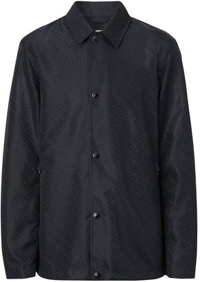 Burberry Monogram-Print Shirt Jacket
