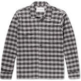 Our Legacy Gingham Cotton-flannel Overshirt - Gray