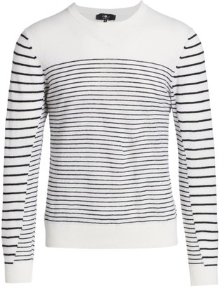 7 For All Mankind Breton Striped Wool-Blend Sweater