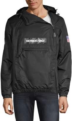 Members Only Logo Hooded Jacket