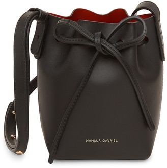 Mansur Gavriel Baby Bucket Bag Black - Flamma
