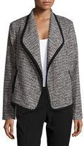Calvin Klein Open-Front Tweed Jacket