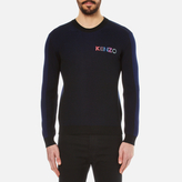 Kenzo Embroidered Logo Rib Knitted Jumper Black