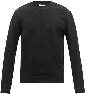Sunspel Crew-neck Cotton Sweatshirt - Mens - Black
