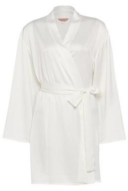 Dorothy Perkins Womens White Bride Satin Robe, White