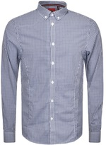 Luke 1977 Terry Toothpick Checked Shirt Navy