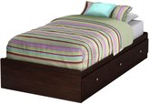 Green Baby South Shore Willow Collection Twin (39'') Mates Bed - Havana
