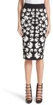Alexander McQueen Women's Swallow Jacquard Pencil Skirt