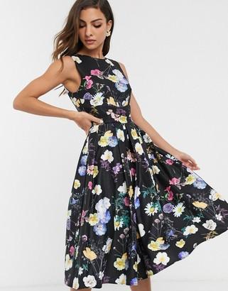 Little Mistress floral print skater dress