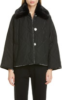 Stand Studio Marlene Faux Fur Collar Quilted Jacket