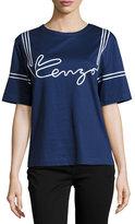 Kenzo Cotton Jersey Logo Tee, Midnight Blue